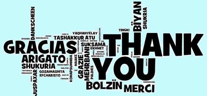 GRAZIE THANK YOU ARIGATO GRACIAS Спасибо MERCI
