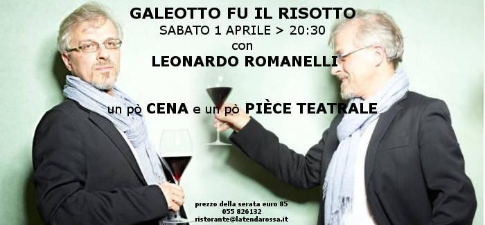 """1 aprile """"Galeotto fu il risotto"""" con Leonardo Romanelli"""