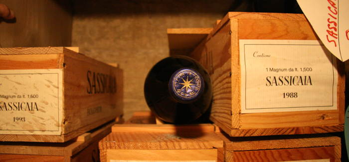 """Sassicaia 1983 1992 1996 """"a bicchiere"""""""