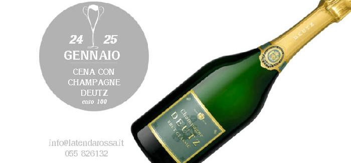 24 e 25 gennaio – Cena con Champagne DEUTZ